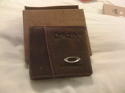 leather Oakley wallet