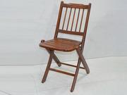 Small Teakwood Folding Lawn Chair